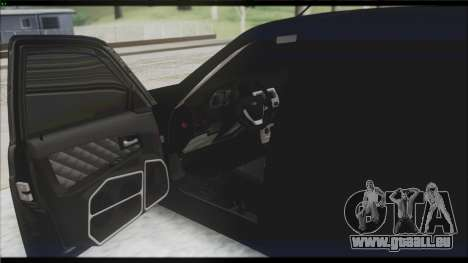 Lada Priora Sedan pour GTA San Andreas vue de dessous