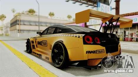 Nissan GT-R Fake Taxi für GTA San Andreas linke Ansicht