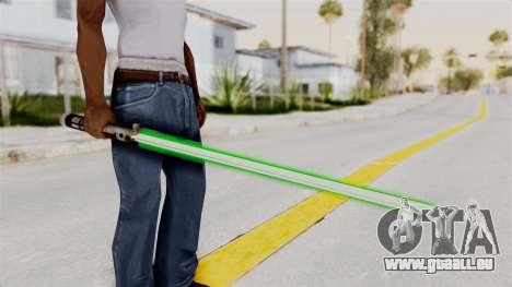 Star Wars LightSaber Green für GTA San Andreas dritten Screenshot