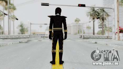 Power Rangers Dino Thunder - Black für GTA San Andreas dritten Screenshot