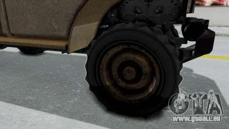 GTA 5 Bravado Duneloader Cleaner Worn für GTA San Andreas Rückansicht