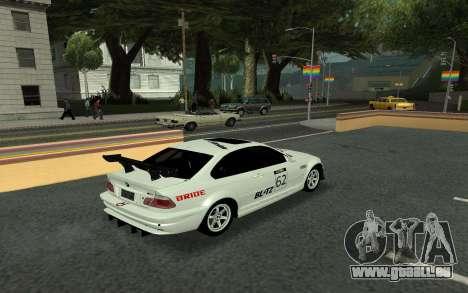 BMW M3 E46 Tunable pour GTA San Andreas vue intérieure