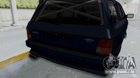 Ford Sierra Turnier 4x4 Saphirre Cosworth pour GTA San Andreas vue de côté