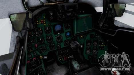 Mi-24V Czech Air Force 7354 pour GTA San Andreas vue intérieure