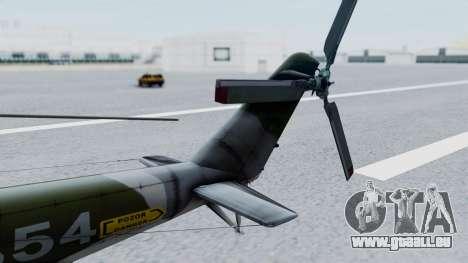 Mi-24V Czech Air Force 7354 pour GTA San Andreas sur la vue arrière gauche