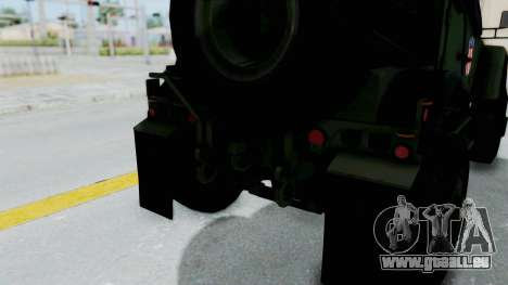 Croatian Oshkosh M-ATV Woodland für GTA San Andreas Innen