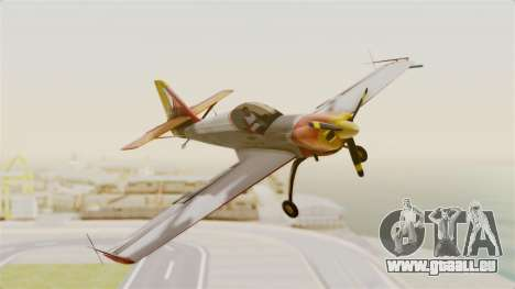 Zlin Z-50 LS v5 pour GTA San Andreas sur la vue arrière gauche
