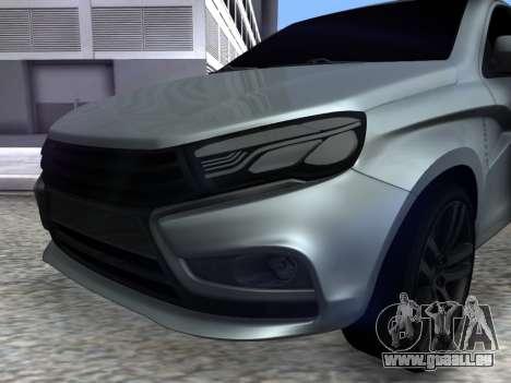 Lada Vesta HD (beta) pour GTA San Andreas vue de droite