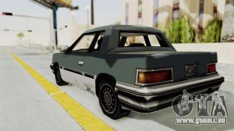 GTA VC Manana pour GTA San Andreas sur la vue arrière gauche