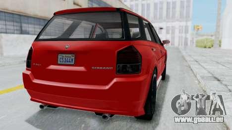 GTA 5 Benefactor Serrano pour GTA San Andreas vue de droite