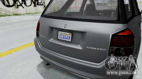 GTA 5 Benefactor Serrano IVF pour GTA San Andreas vue de droite