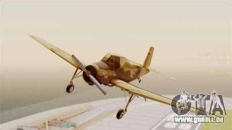 Z-37 Cmelak pour GTA San Andreas sur la vue arrière gauche