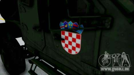 Croatian Oshkosh M-ATV Woodland pour GTA San Andreas vue intérieure