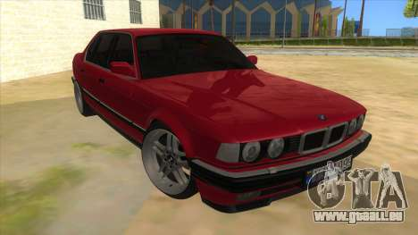 BMW E32 für GTA San Andreas Rückansicht