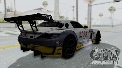 Mercedes-Benz SLS AMG GT3 PJ7 pour GTA San Andreas vue intérieure