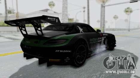 Mercedes-Benz SLS AMG GT3 PJ7 pour GTA San Andreas vue de dessus