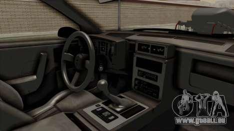 Pontiac Fiero GT G97 1985 Monster Truck pour GTA San Andreas vue intérieure