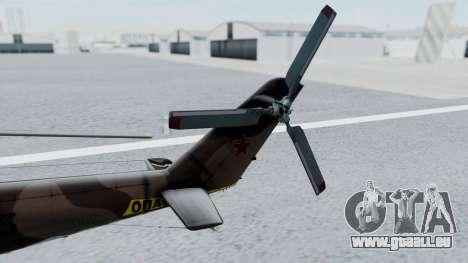 Mi-24V Soviet Air Force 0835 für GTA San Andreas zurück linke Ansicht