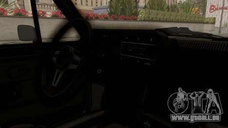 Volkswagen Golf Mk1 GTI pour GTA San Andreas vue intérieure