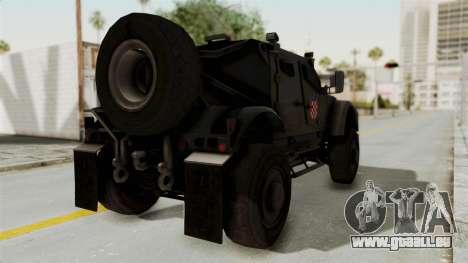 Croatian Oshkosh M-ATV Desert pour GTA San Andreas laissé vue