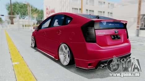 Toyota Prius 2011 Elegant Modification für GTA San Andreas rechten Ansicht