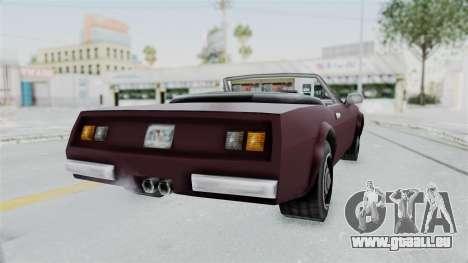 GTA VC Stinger pour GTA San Andreas sur la vue arrière gauche