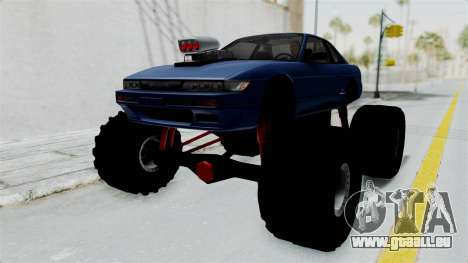 Nissan Silvia S13 Monster Truck für GTA San Andreas zurück linke Ansicht