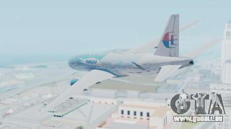 Boeing 777-2H6ER Malaysia Airlines für GTA San Andreas linke Ansicht