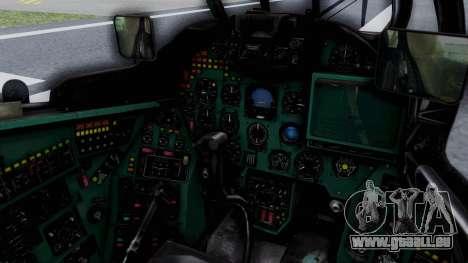 Mi-24V GDR Air Force 45 für GTA San Andreas Innenansicht