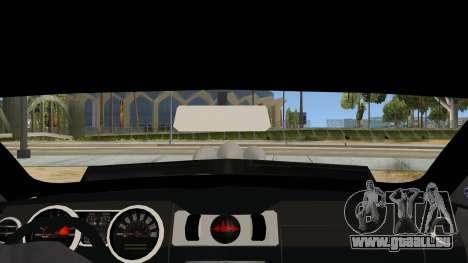 Ford Mustang für GTA San Andreas Innenansicht