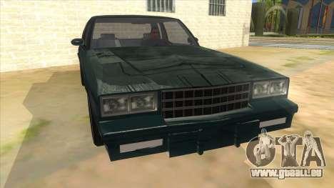 Chevrolet Monte Carlo 81 pour GTA San Andreas vue arrière
