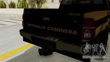 Toyota Hilux 2015 Patrulla Caminera Paraguaya für GTA San Andreas Rückansicht