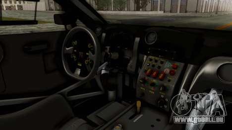 Nissan GT-R Fake Taxi für GTA San Andreas Innenansicht