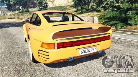 GTA 5 Porsche 959 1987 arrière vue latérale gauche