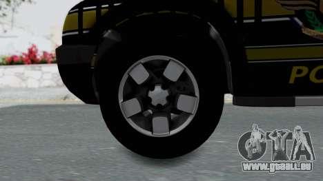 Chevrolet S10 Policia Caminera Paraguaya pour GTA San Andreas sur la vue arrière gauche