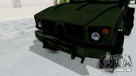 Croatian Oshkosh M-ATV Woodland pour GTA San Andreas vue de dessus