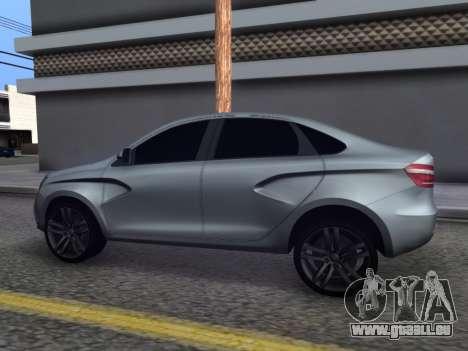 Lada Vesta HD (beta) pour GTA San Andreas laissé vue