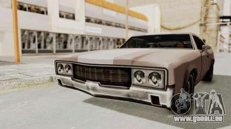 GTA Vice City - Sabre Turbo (Sprayable) für GTA San Andreas rechten Ansicht