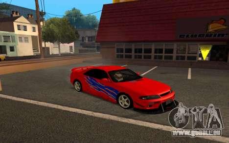 Nissan Skyline R33 Tunable für GTA San Andreas Seitenansicht