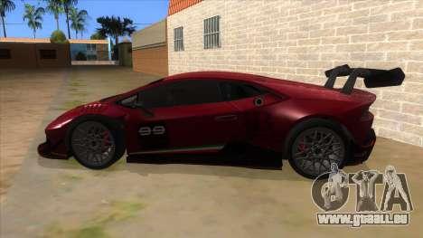 2015 Lamborghini Huracan LP610-4 Super Trofeo pour GTA San Andreas laissé vue
