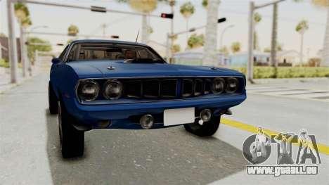 Plymouth Hemi Cuda 1971 Drag für GTA San Andreas rechten Ansicht