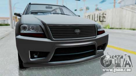 GTA 5 Benefactor Serrano IVF pour GTA San Andreas vue arrière