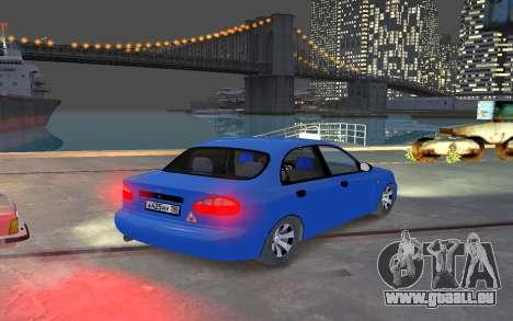 Daewoo Lanos Taxi pour GTA 4 est un droit