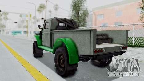 GTA 5 Bravado Duneloader Cleaner Worn IVF für GTA San Andreas linke Ansicht