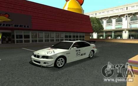 BMW M3 E46 Tunable für GTA San Andreas Rückansicht