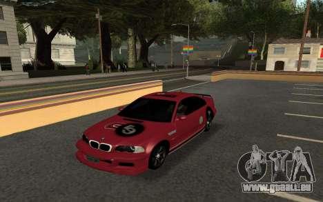 BMW M3 E46 Tunable pour GTA San Andreas sur la vue arrière gauche