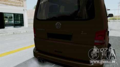 Volkswagen Transporter TDI Final für GTA San Andreas Innenansicht