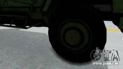Croatian Oshkosh M-ATV Woodland pour GTA San Andreas vue arrière