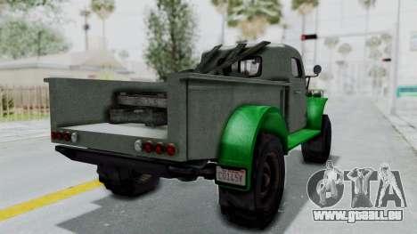 GTA 5 Bravado Duneloader Cleaner Worn IVF für GTA San Andreas zurück linke Ansicht