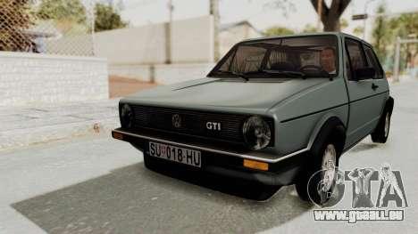 Volkswagen Golf Mk1 GTI pour GTA San Andreas